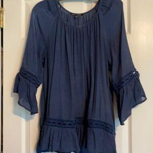 Gauze type blouse